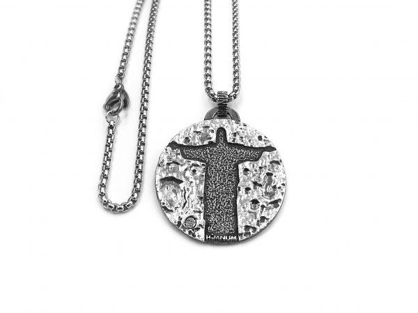 Colgante  plata padre nuestro Sacro HIMNUM