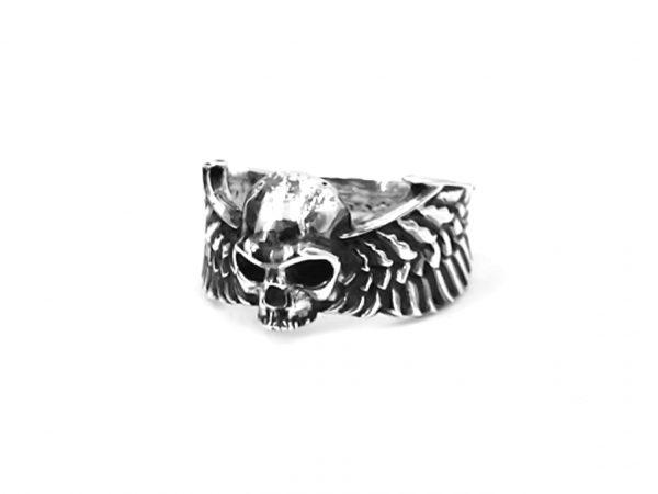 Anillo plata calavera con alas Skulls HIMNUM