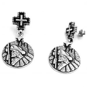 Pendiente plata apostol Santiago Camino HIMNUM