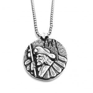 Colgante plata apostol Santiago Camino HIMNUM